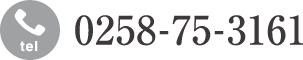 電話番号 0258-75-3161に発信